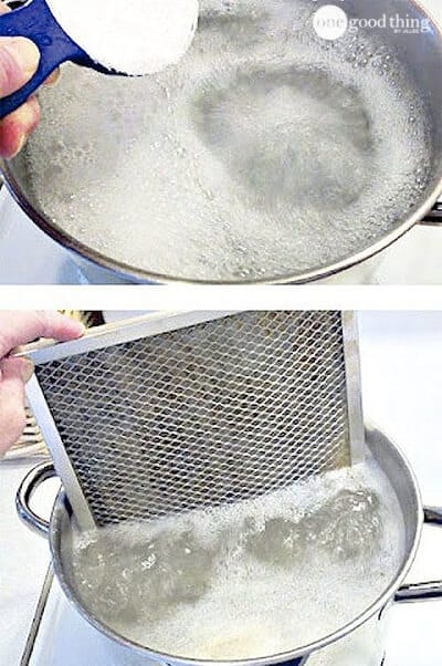 how to clean greasy oven filters
