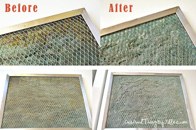 Clean your greasy range hood filter