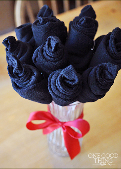15-Minute Father's Day Sock Bouquet - one good thing
