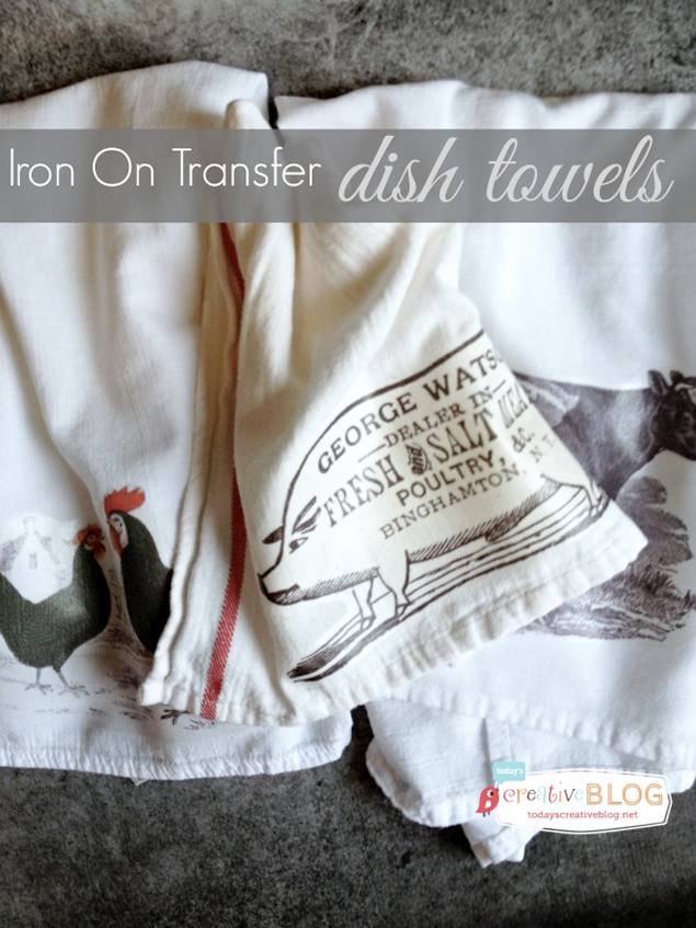 Make Your Own Beautiful Iron-On Transfer Cloth Napkins · Jillee