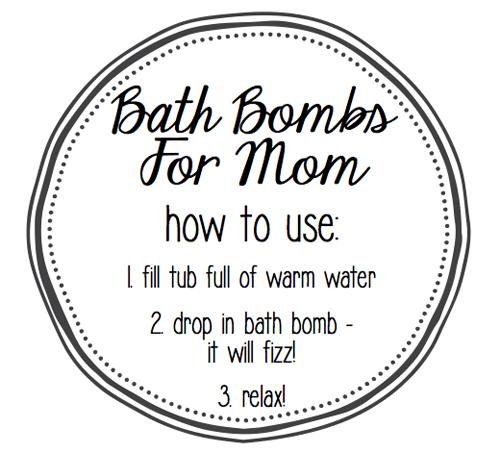 Bath Bomb tag