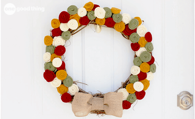 Dress Up Your Front Door With A Festive Fall Wreath