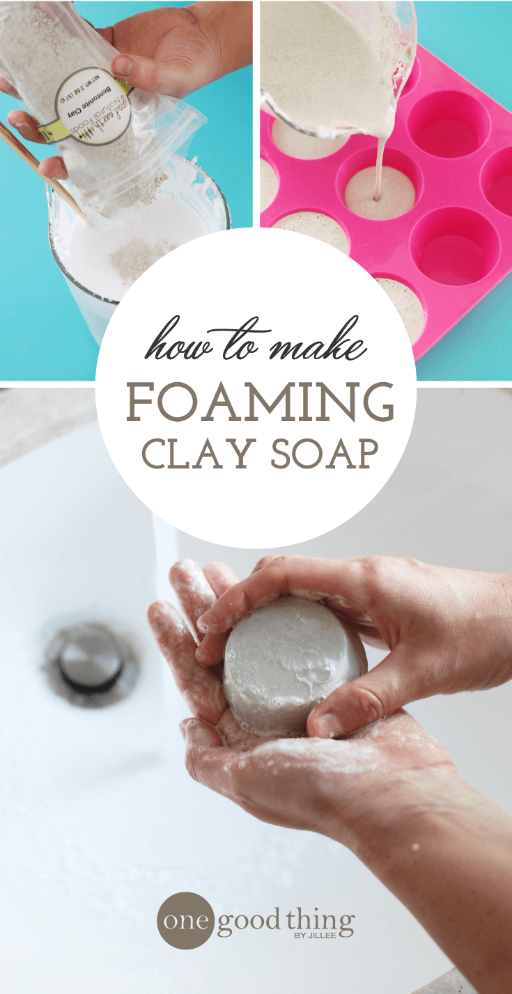 DIY Foaming Clay Soap
