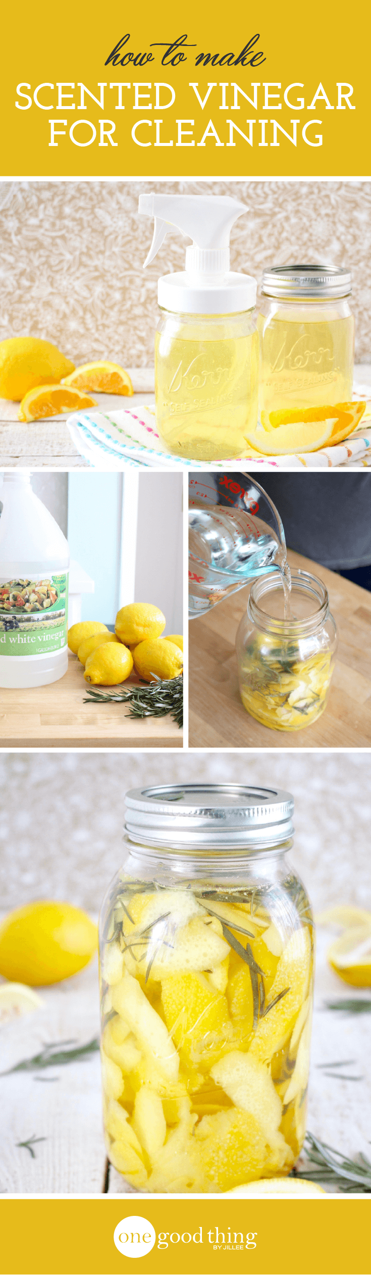 How To Make Scented Cleaning Vinegar One Good Thing By